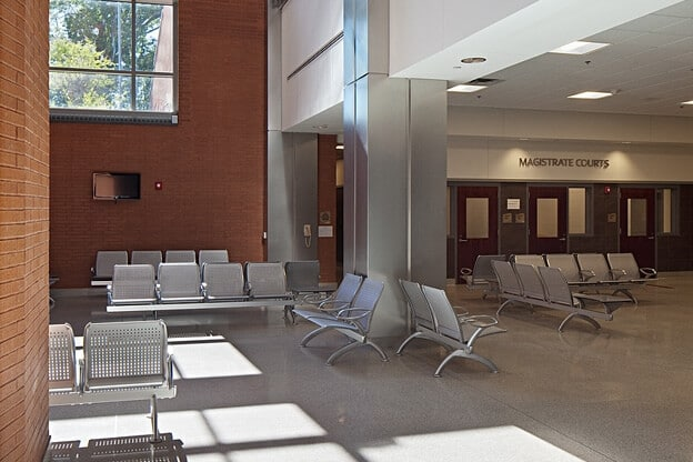 wake county jail lobby